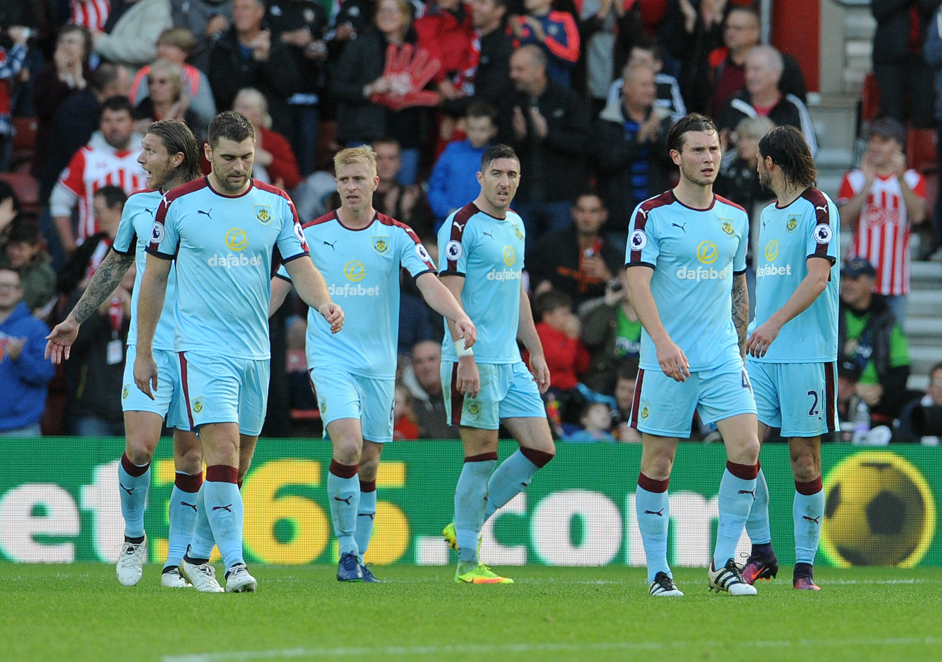 Burnley were well beaten at Southampton just over a year ago