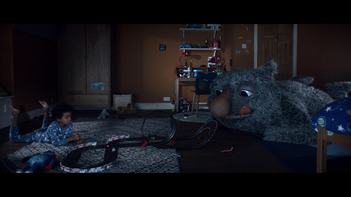 Undated handout photo issued by John Lewis of a still from the eagerly anticipated John Lewis Christmas campaign which features a young boy and his imaginary monster under the bed. PRESS ASSOCIATION Photo. Issue date: Friday November 10, 2017.
