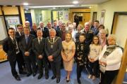 3097 is of Mayor and mayoress, Governors, Guest speaker Ian Bagshaw and other invited guests