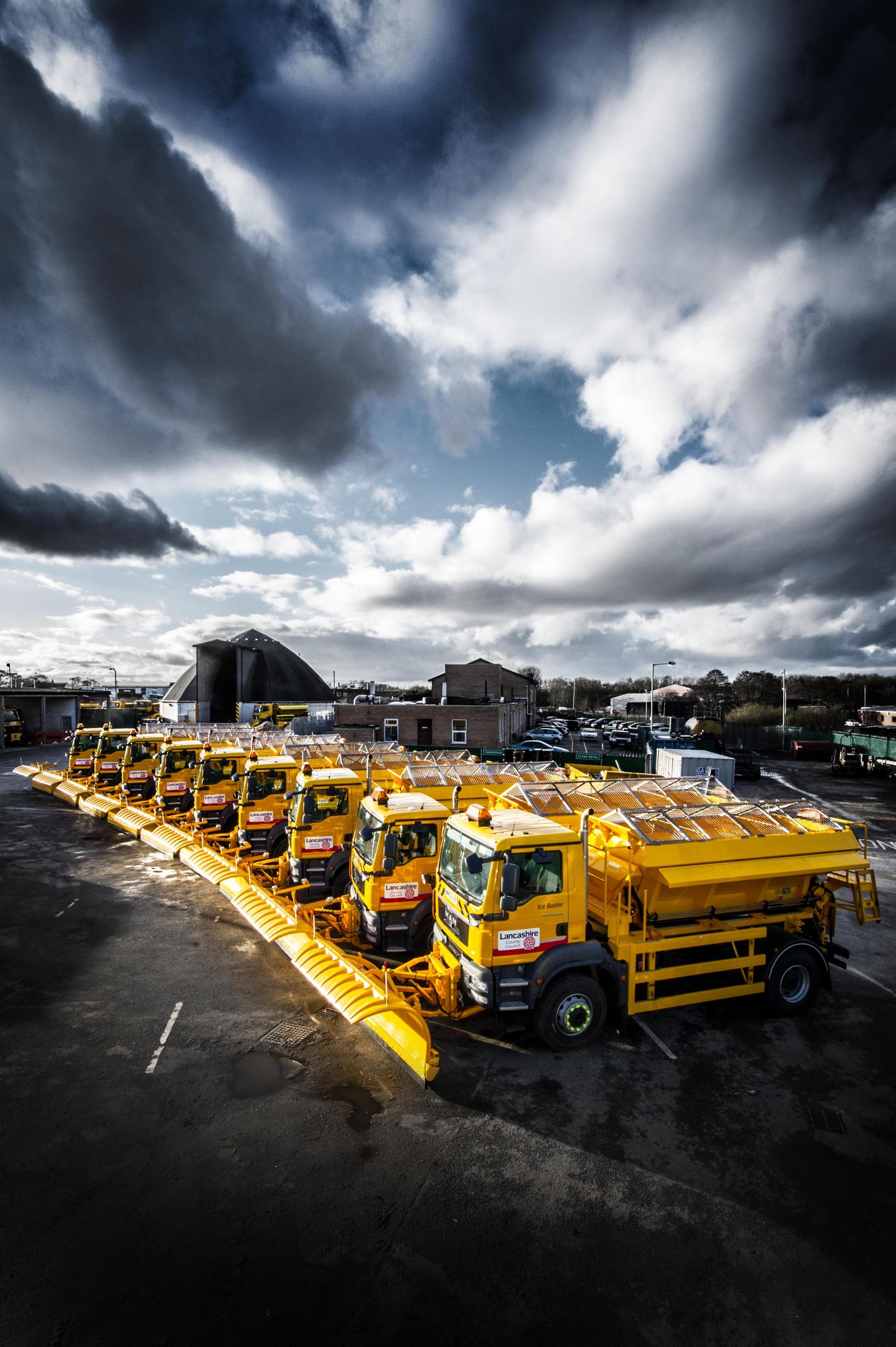 Gritters all set to clear the roads of snow and ice this winter