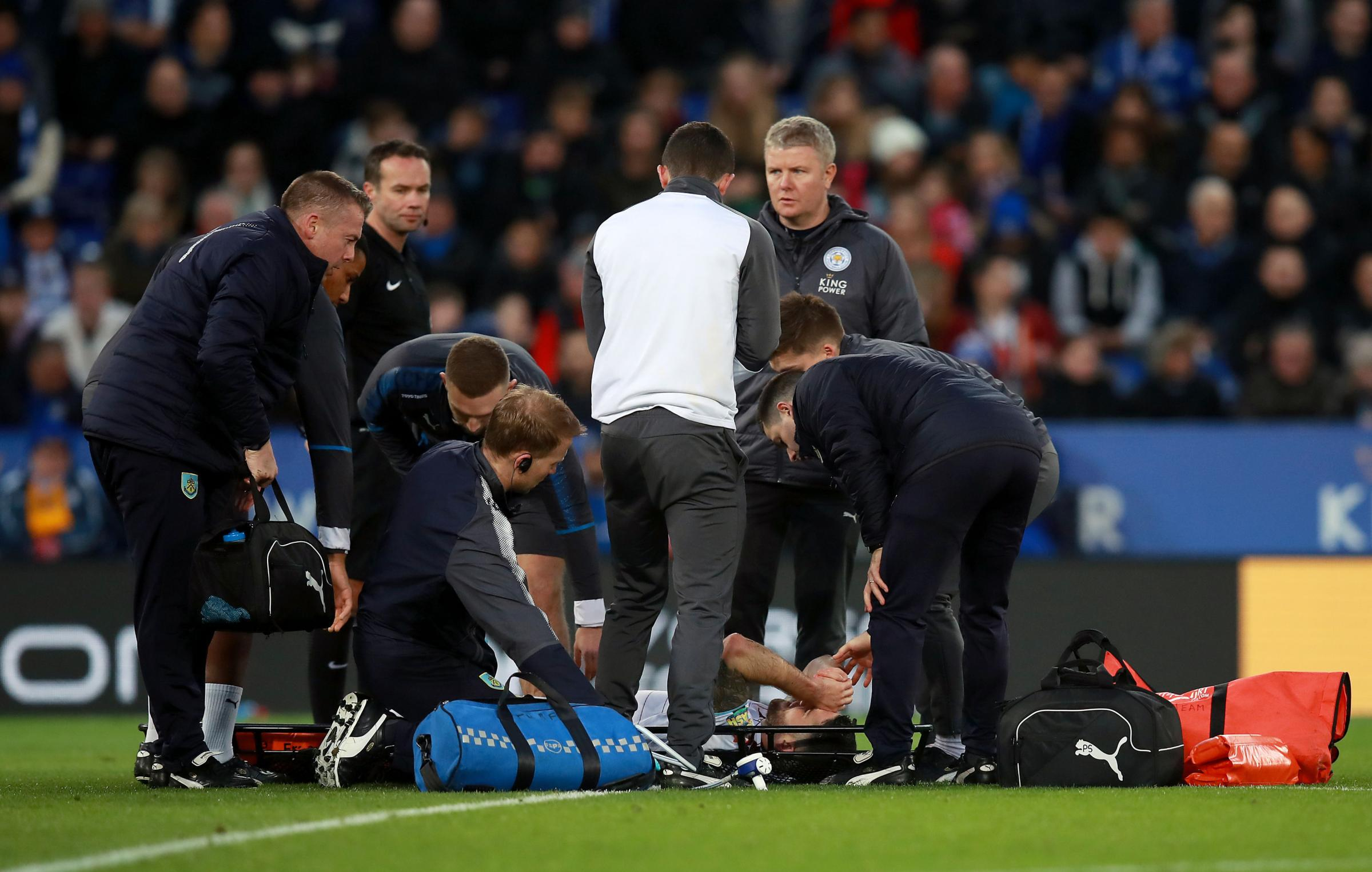 Robbie Brady was stretchered off after injuring his knee