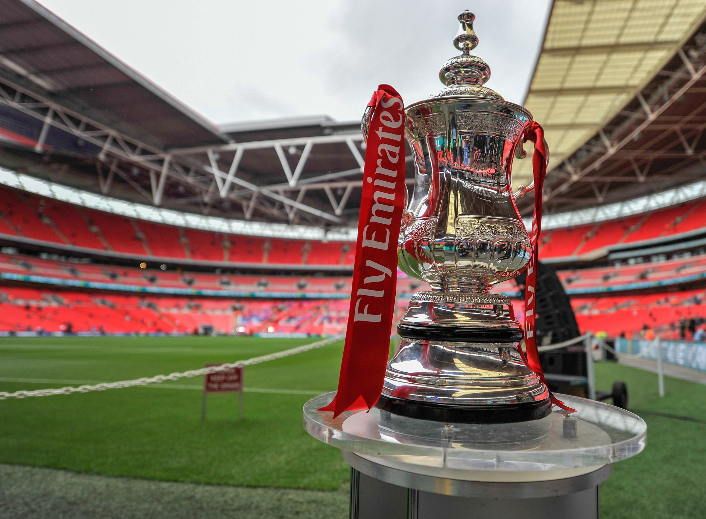 The FA Cup on display at Wembley StadiumPhotographer Ashley Western/CameraSportFootball - The Emirates FA Cup Final - Crystal Palace Manchester United - Saturday 21st May 2016 - Wembley - London© CameraSport - 43 Linden Ave. Countesthorpe. Leicester. Eng