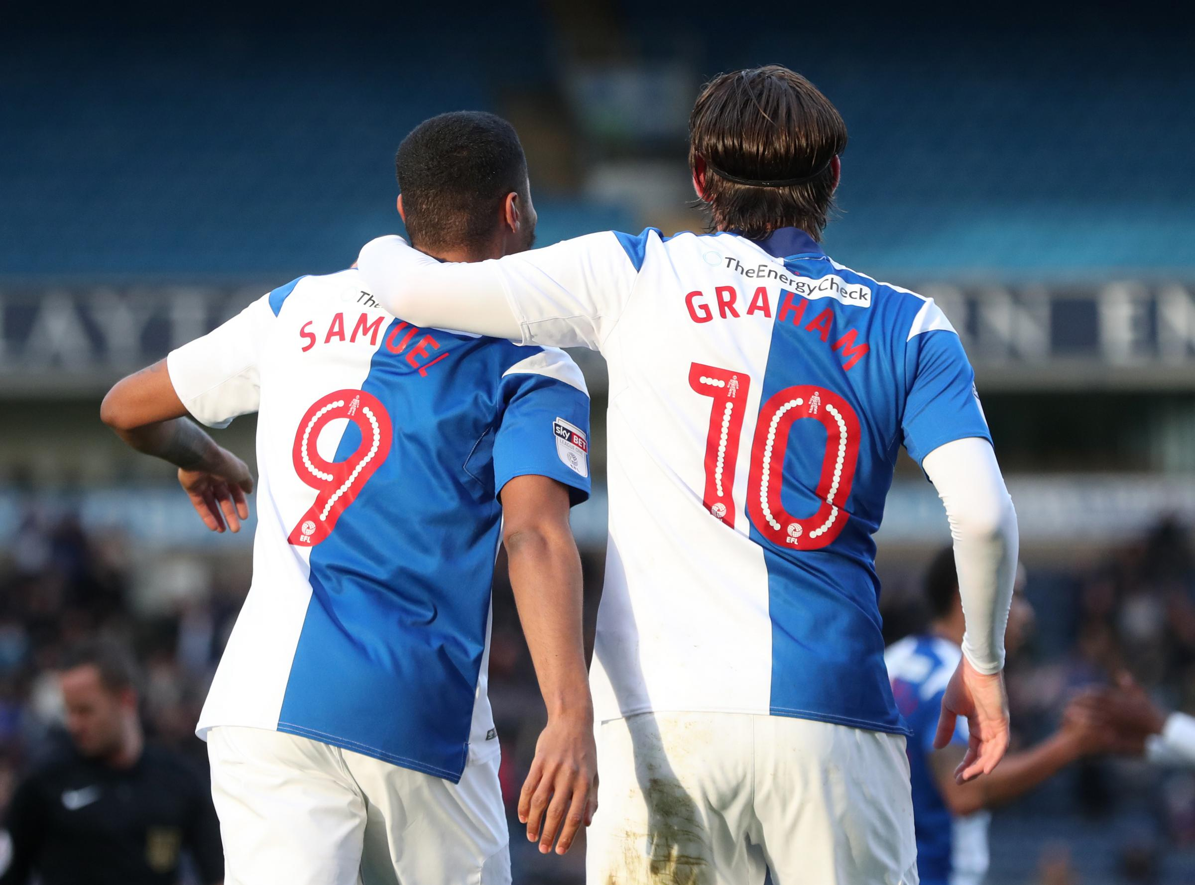 Rovers strikers Dominic Samuel and Danny Graham