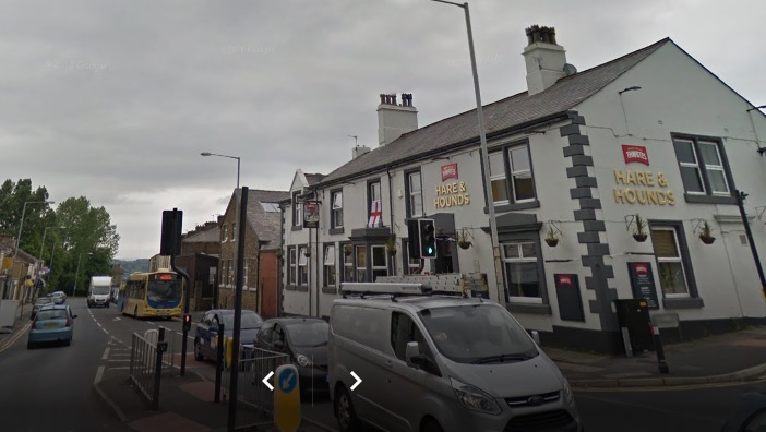 The incident happened near to the Hare and Hounds pub in Whalley Road, Clayton-le-Moors