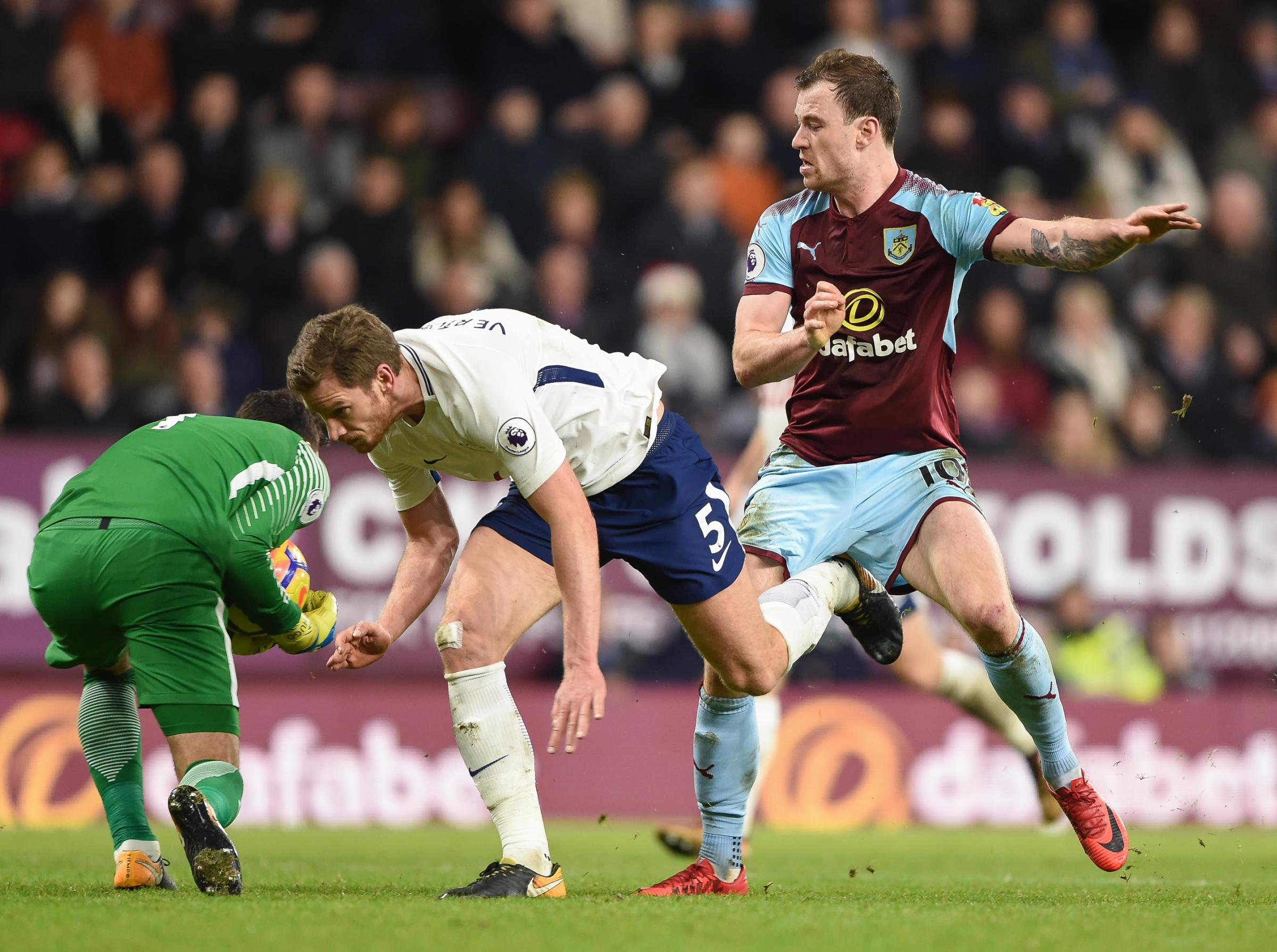 Ashley Barnes was one of four attackers named on the bench by Sean Dyche