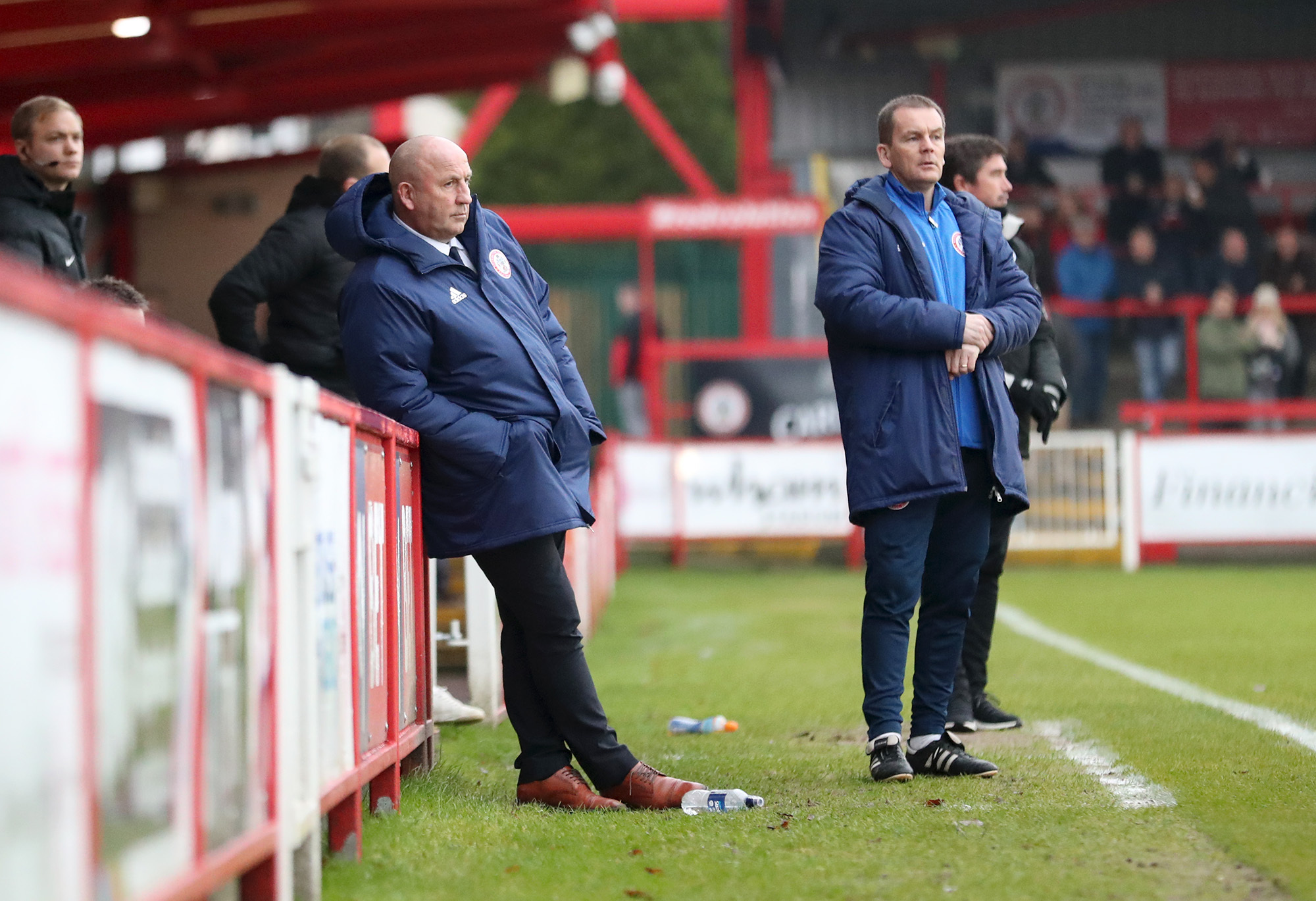 John Coleman watches on during Stanley's defeat to Crawley
