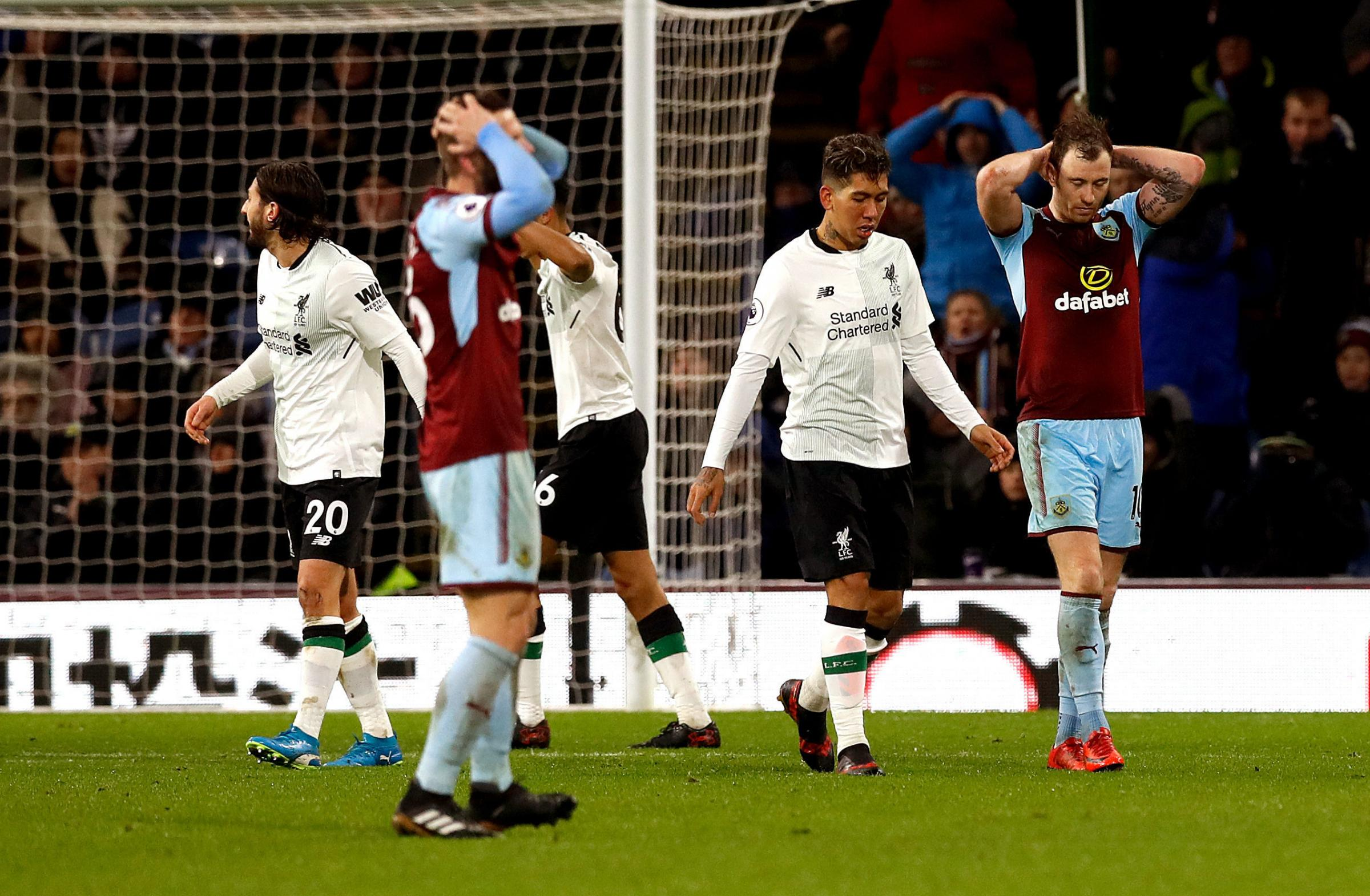 Burnley suffered injury-time heartbreak against Liverpool
