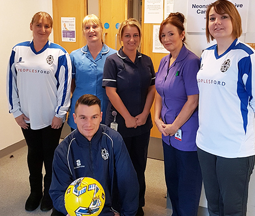 The Accrington-based mums with Burnley neonatal intensive care unit staff and coach Ben Taylor
