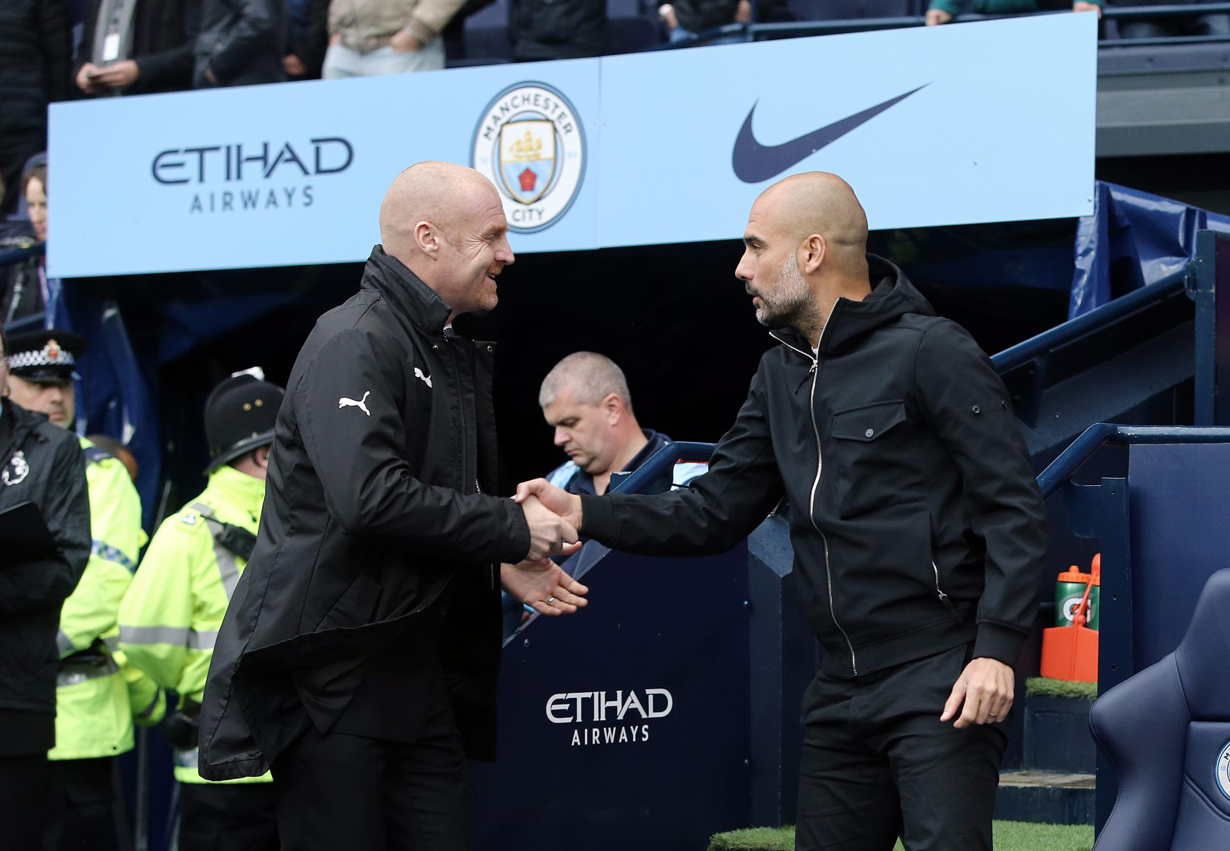 Image result for guardiola burnley players