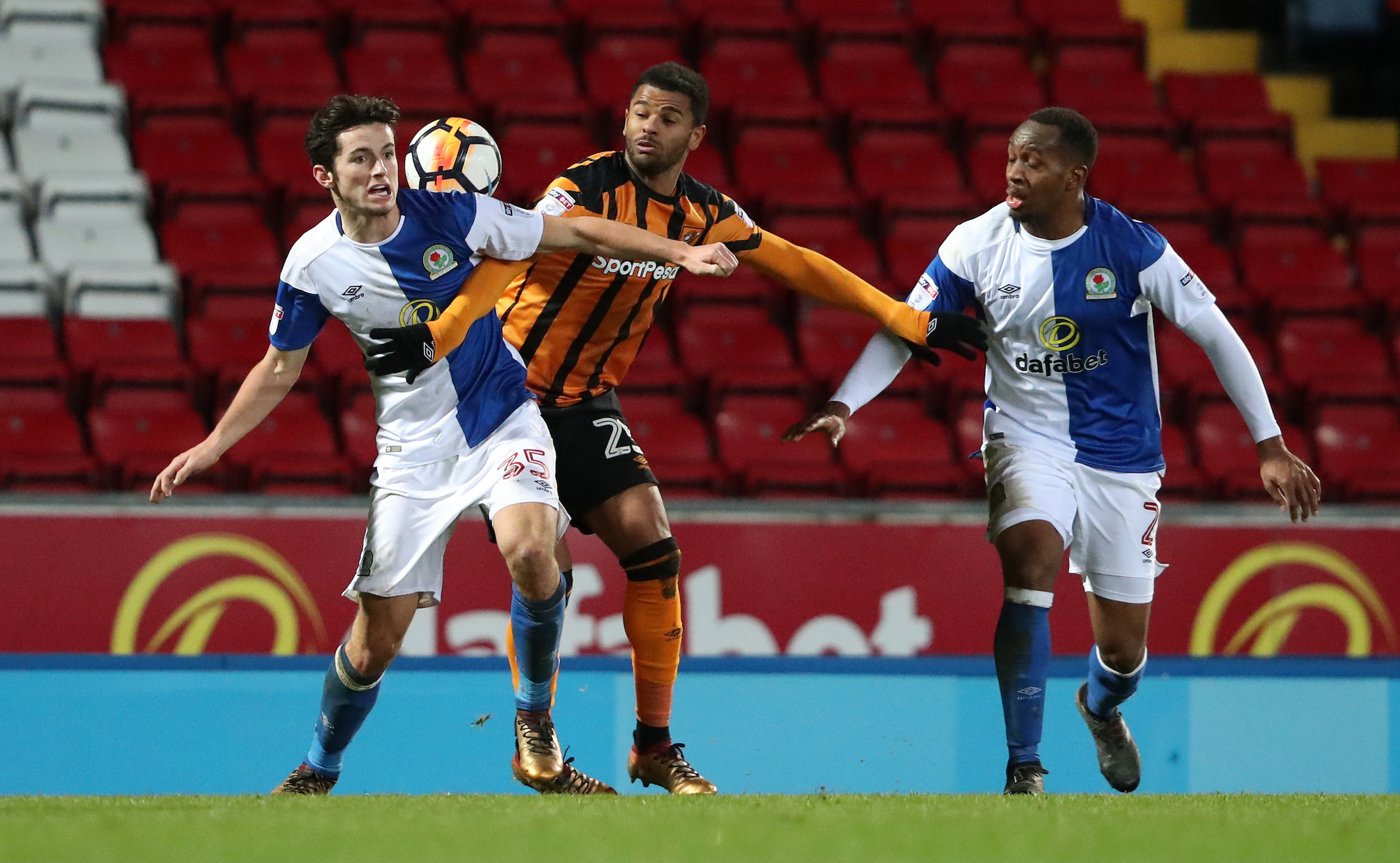 Lewis Travis made his fifth Rovers senior appearance in the FA Cup defeat to Hull City