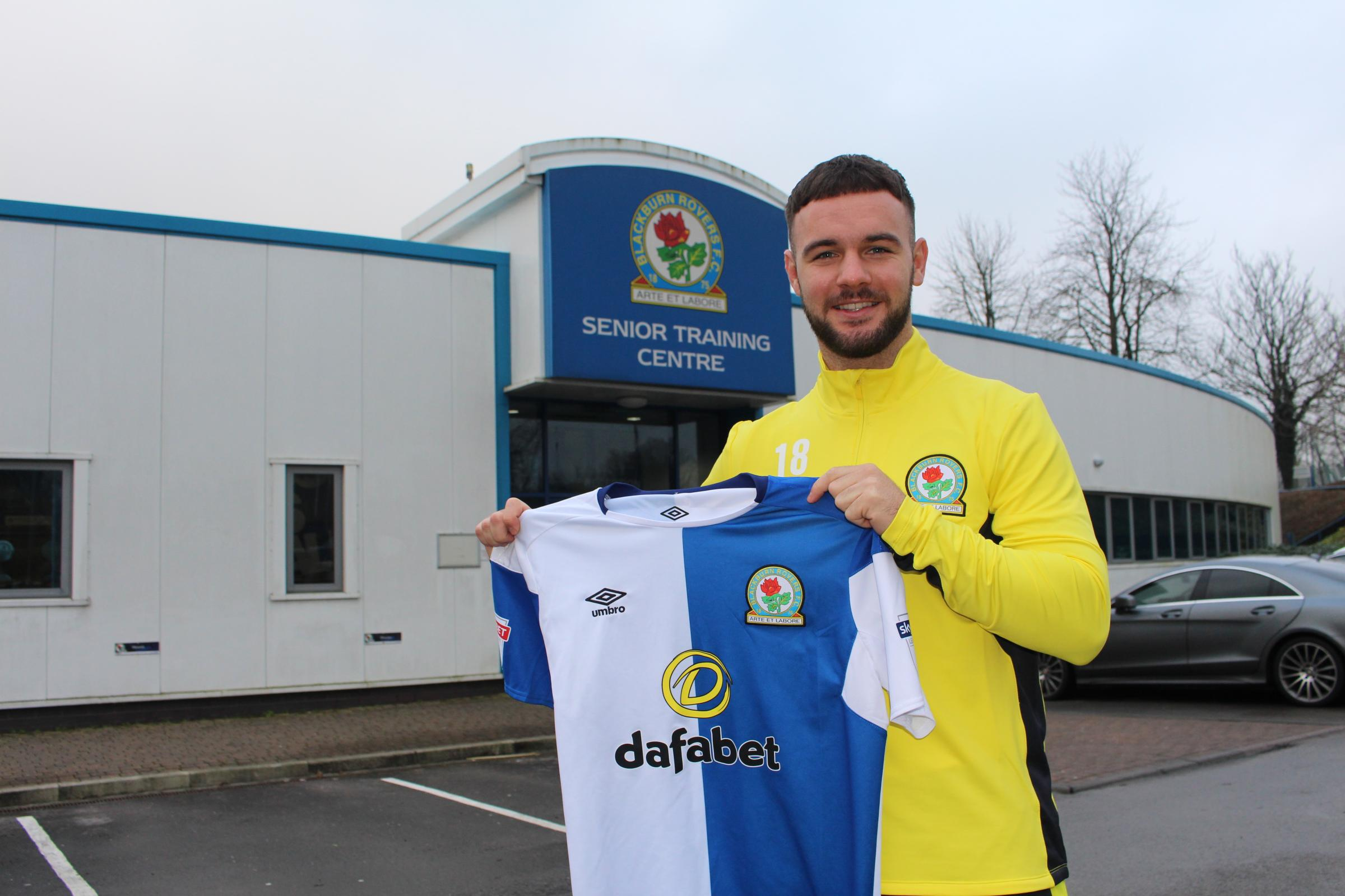 Adam Armstrong reunited himself with Tony Mowbray after joining Rovers on loan