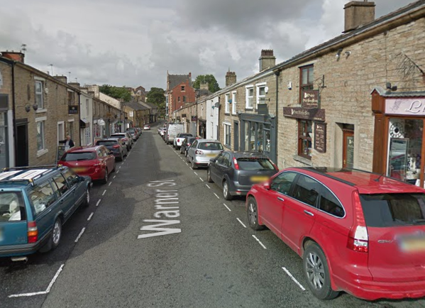 Warner Street, in Accrington, where there has been a spate of recent burglaries