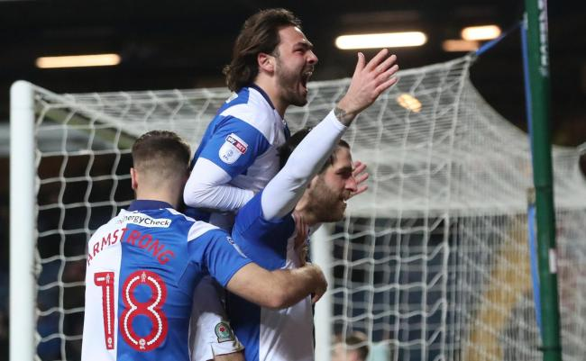 Rovers celebrate the win