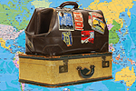 Lancashire Telegraph: Suitcases with Map