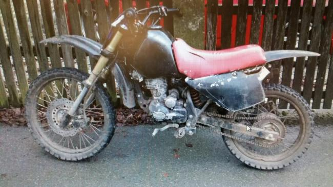 Motorbike seized by police on Skipton Road, Earby