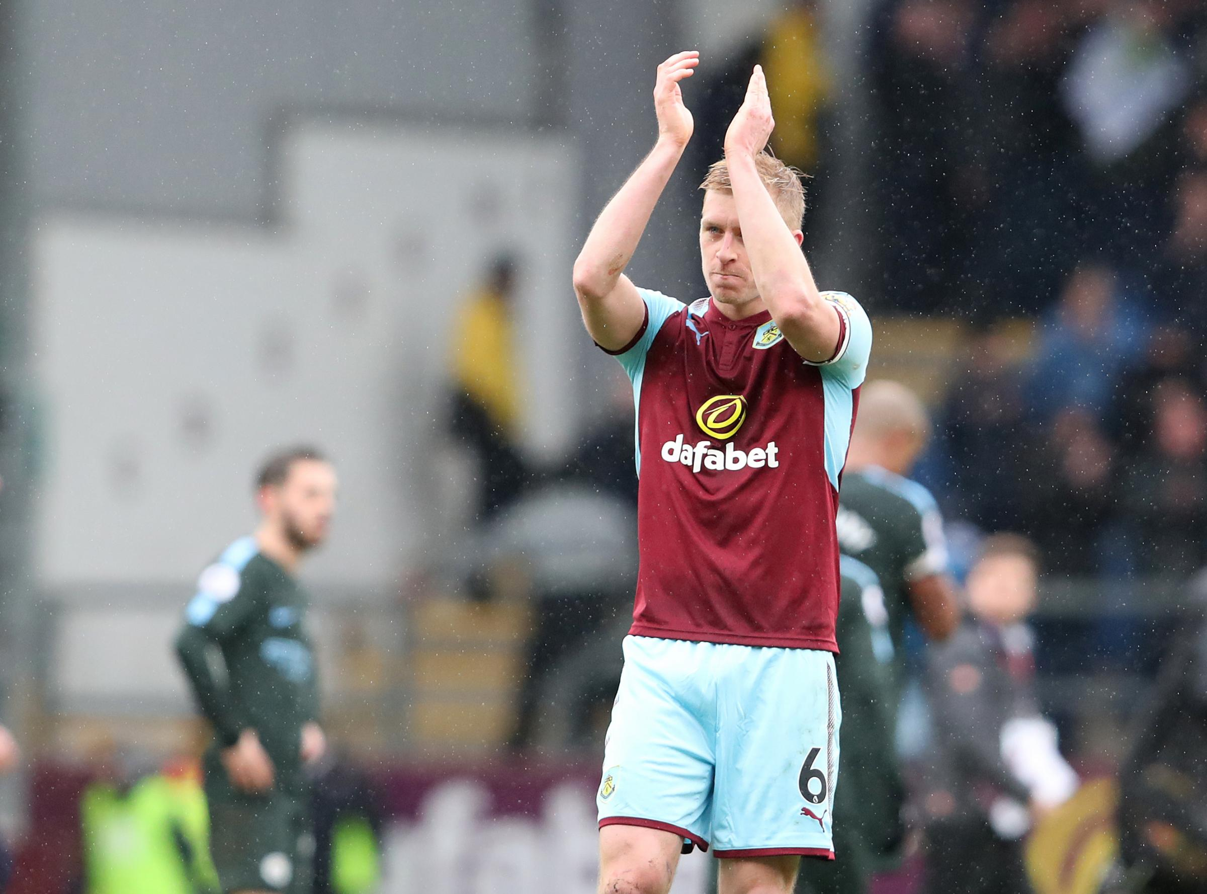 Burnley's Ben Mee at the end of todays match..Photographer Rachel Holborn/CameraSport..The Premier League - Burnley v Manchester City - Saturday 3rd February 2018 - Turf Moor - Burnley..World Copyright © 2018 CameraSport. All rights reserv