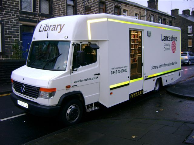 Mobile library unit used by Lancashire County Council