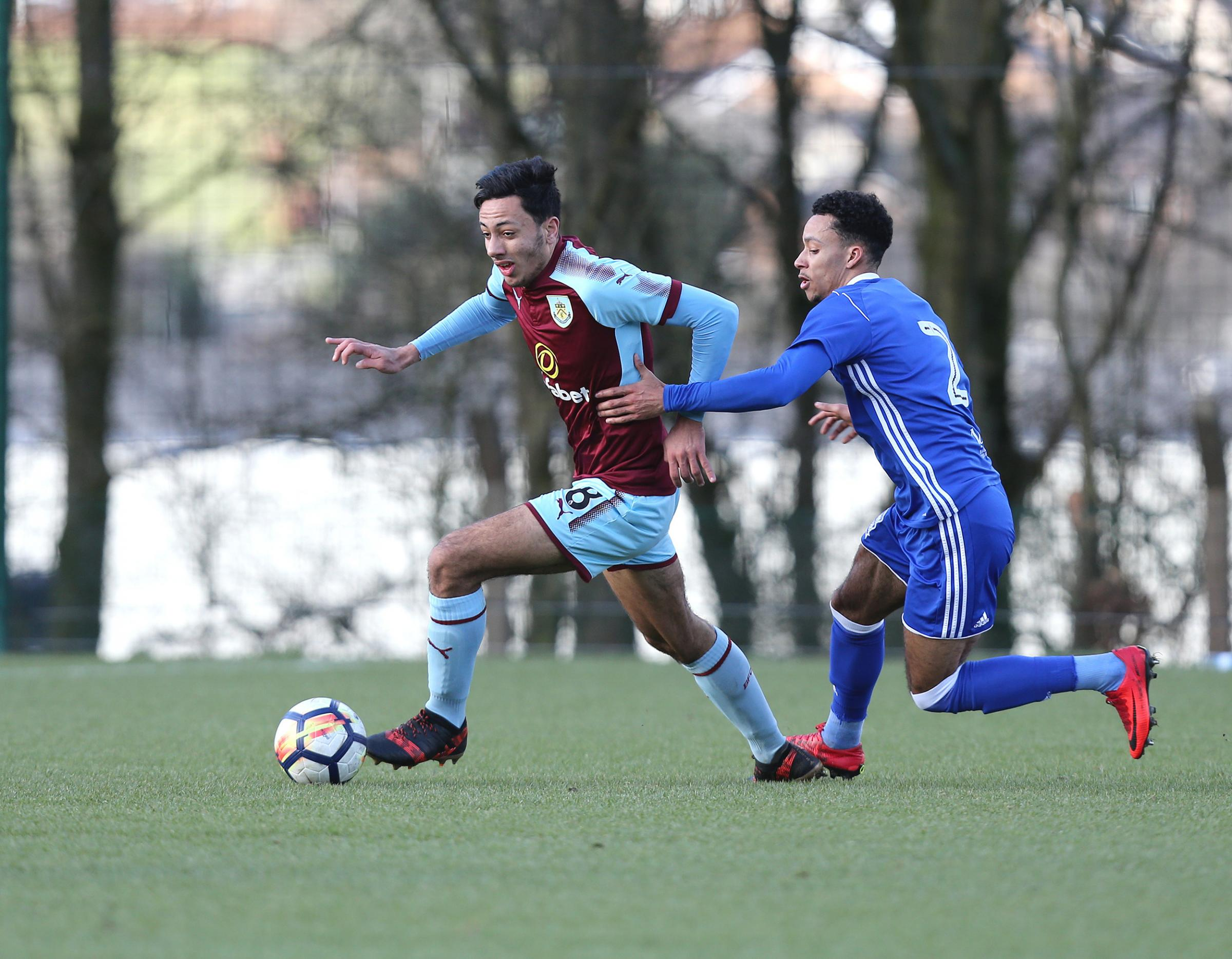 Dwight McNeil in action for Burnley Under-23s against Birmingham. Pic: Kipax