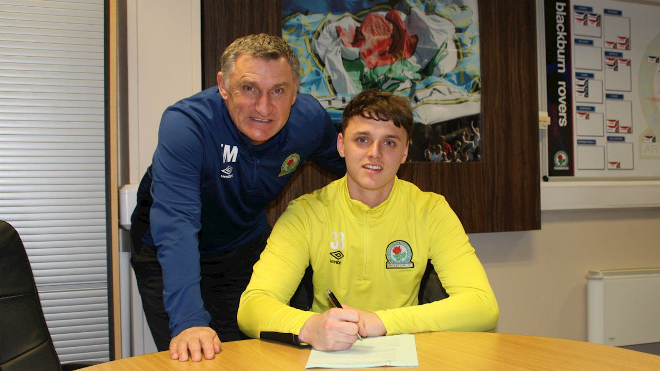 New Rovers signing Oliver Byrne with boss Tony Mowbray