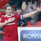 Lancashire Telegraph: Sean McConville of Accrington Stanley celebrates after scoring his second and  Accrington Stanley third to make it 3-2 to  Accrington Stanley .during the EFL  skybet league 2 Football match between Accrington Stanley and  Port Vale  at the WHAM Stadium, A