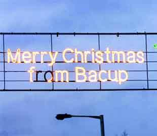 FAILURE: Missing lights from the Christmas message have been defended by councillors