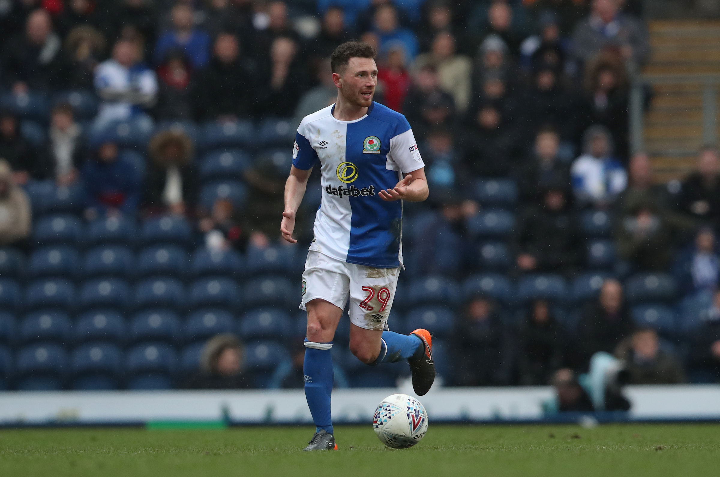 Corry Evans was an early substitute for Rovers in their win over Blackpool at the weekend