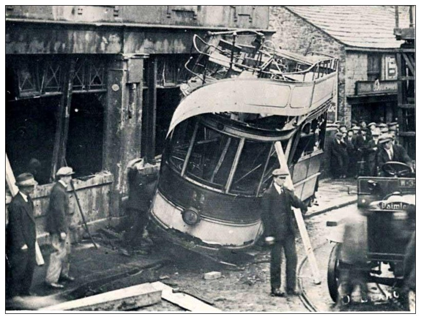 A fatal tram crash in Bridge Street, Darwen in 1926.