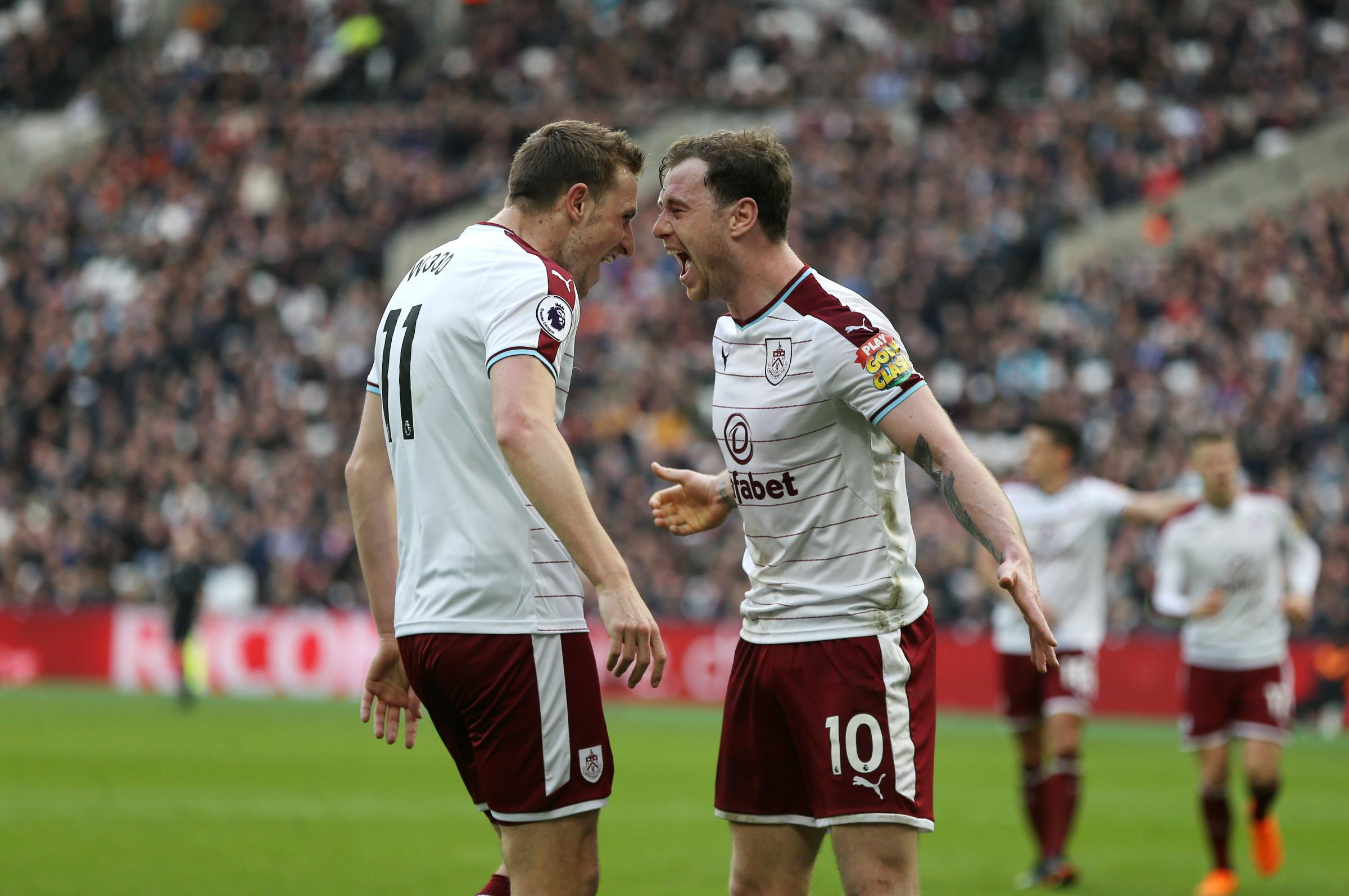 Ashley Barnes and Chris Wood have been in fine form for Burnley recently