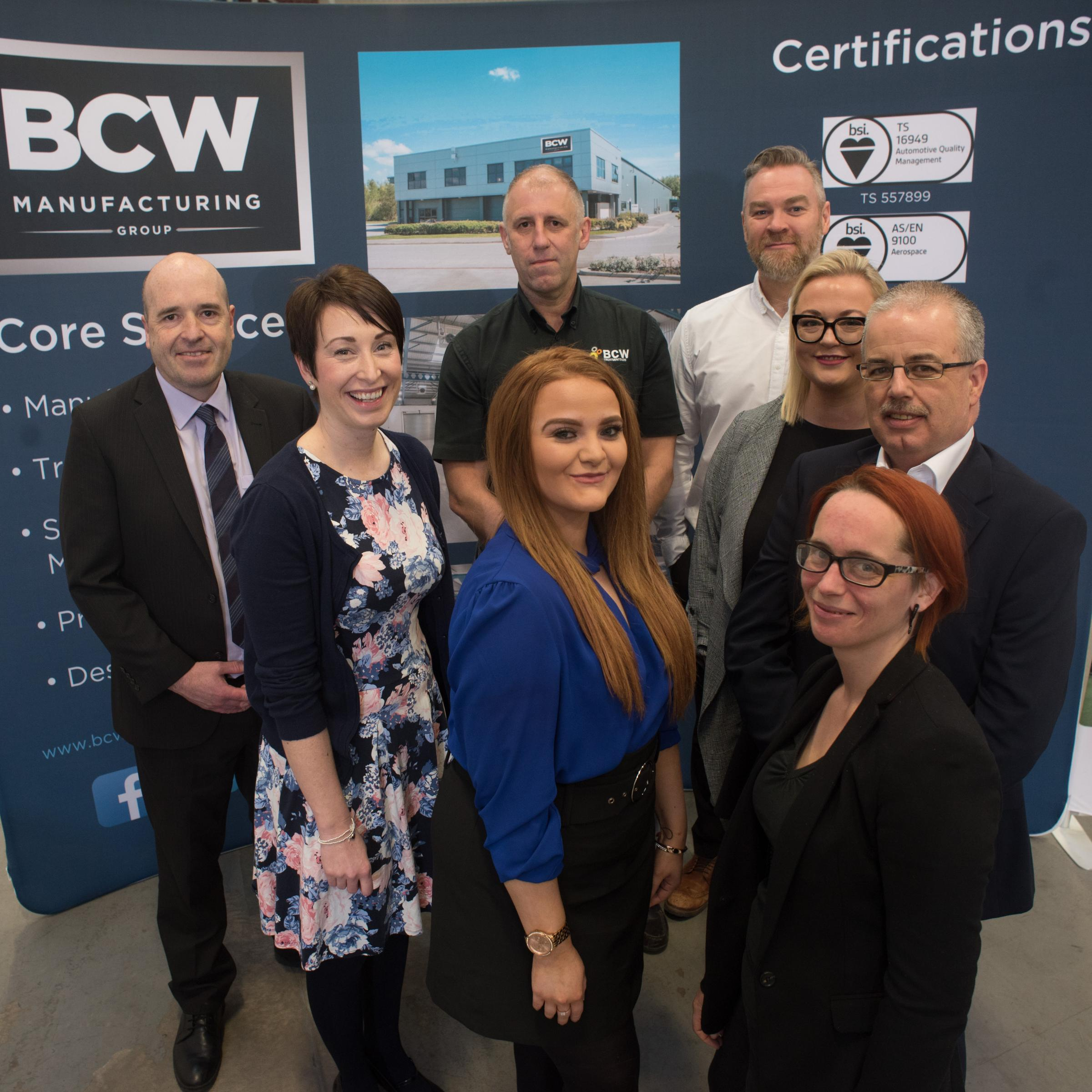 Representatives from the BCW Engineering team at the expansion announcement event