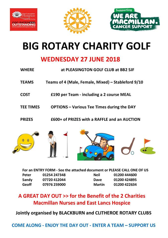 Big Rotary Charity Golf Day