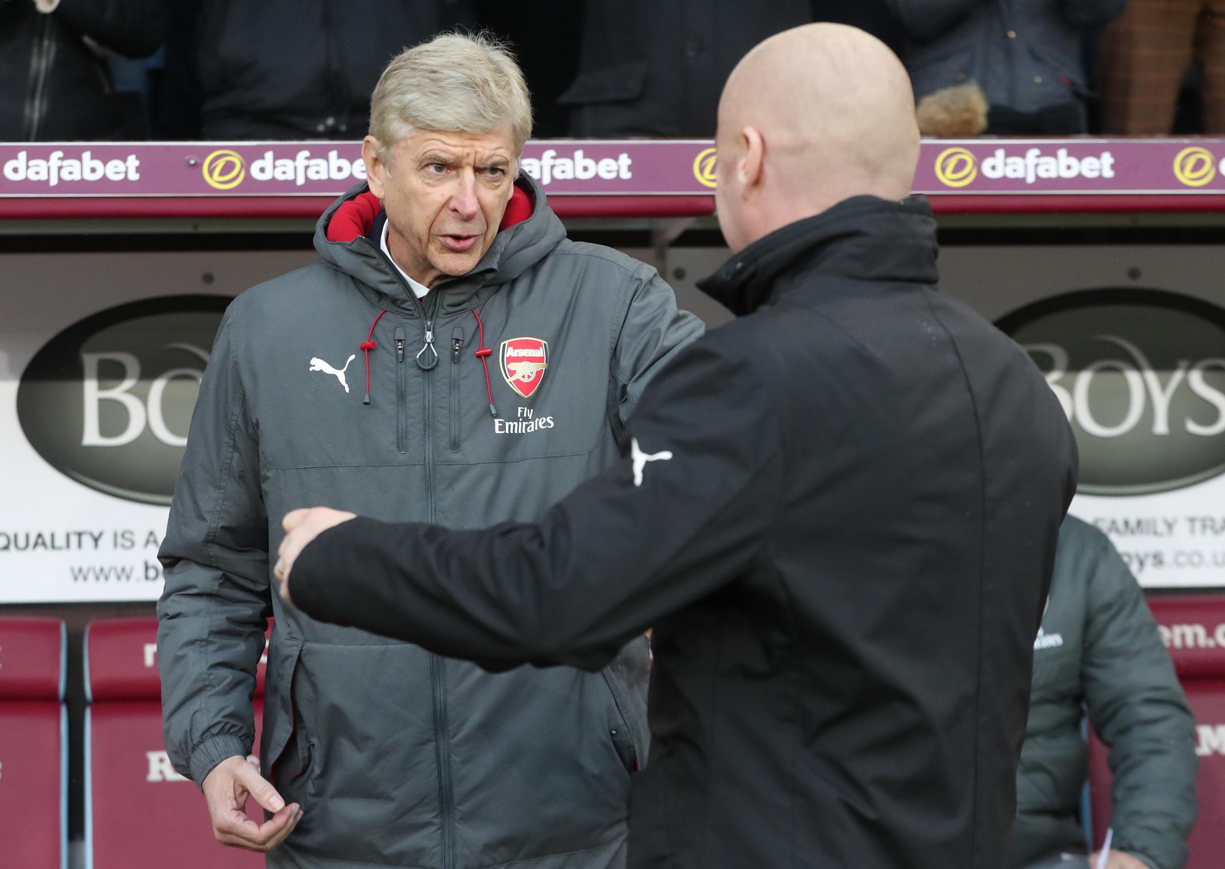 Sean Dyche has paid tribute to 'legend' Arsene Wenger