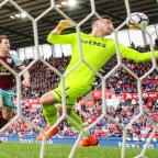 Lancashire Telegraph: Ashley Barnes forces home an equaliser for Burnley at Stoke