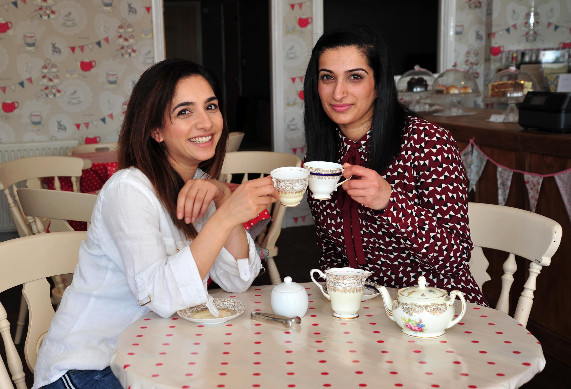 Aamena Adam from Eskay Apothecary and Shabnam Gul from Four Seasons Tea Rooms