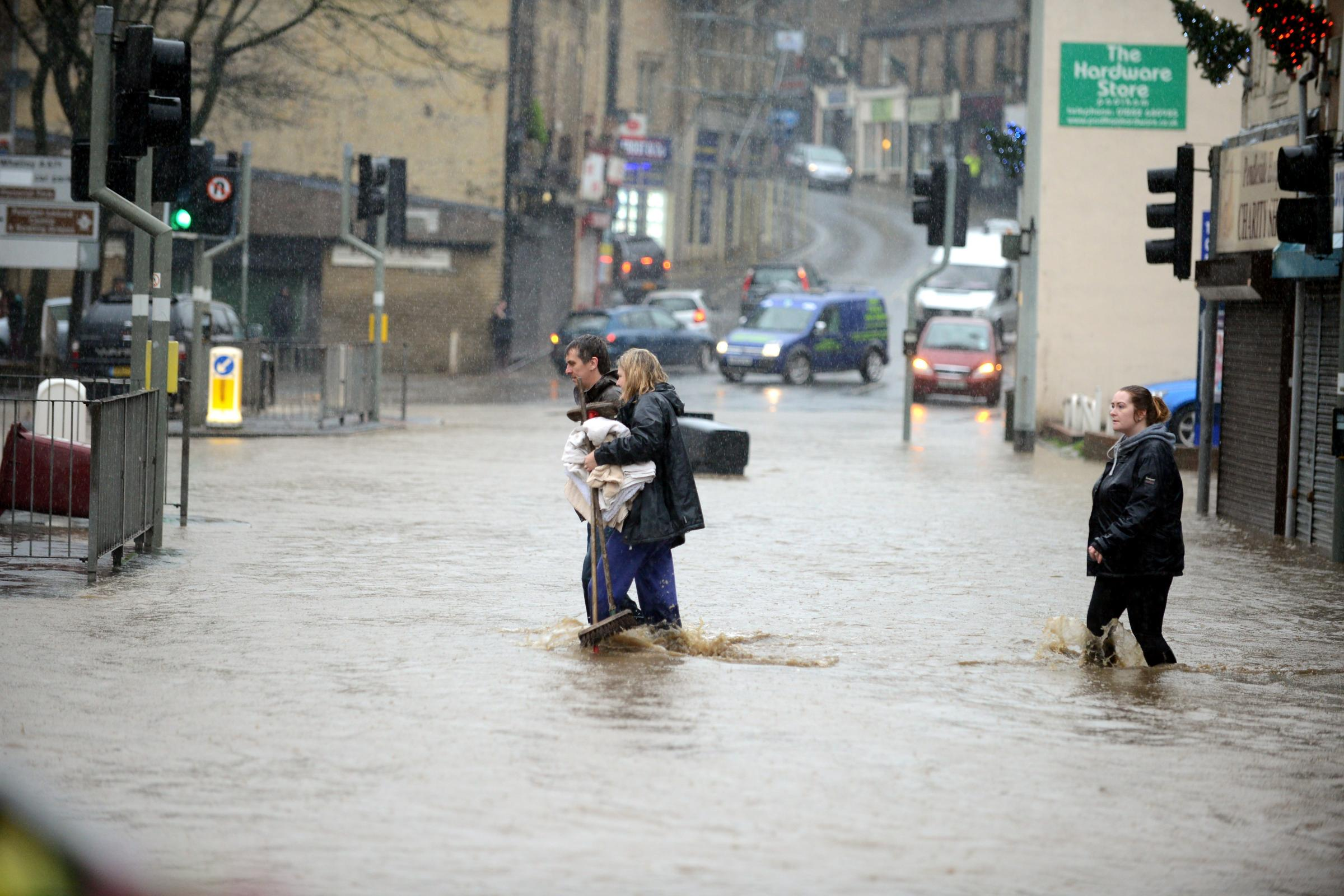 The Boxing Day 2015 flooding in Padiham.