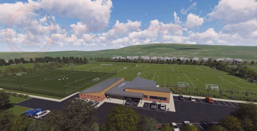 The latest image of the sports hub plans