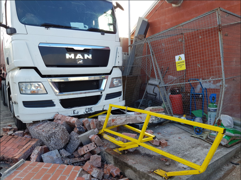 Fire services called after lorry collides with gas cylinders in Blackburn