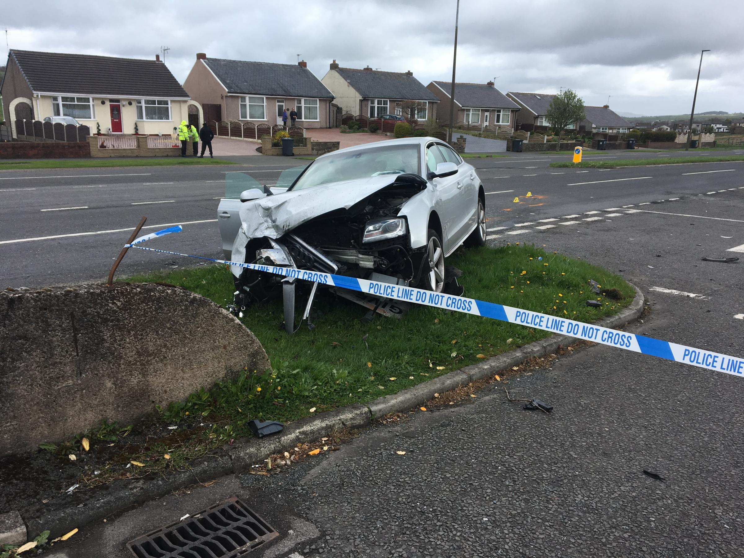 Road blocked after 'serious' crash in Blackburn