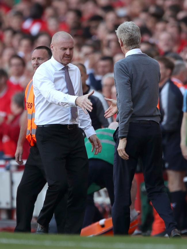 Sean Dyche felt his side were lacking intensity in their defeat to Arsenal