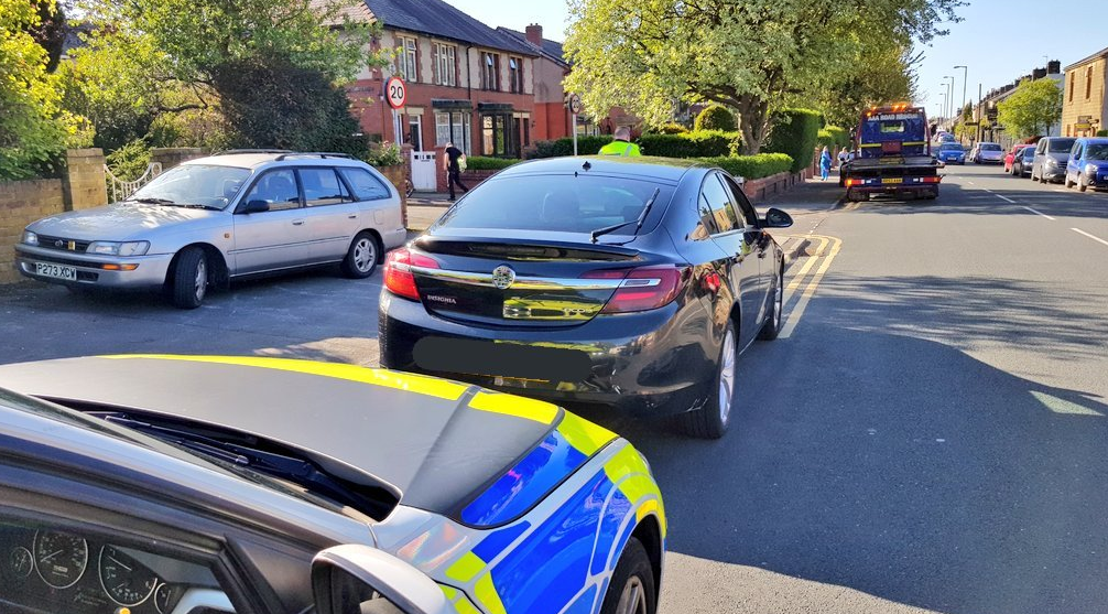 Car with no insurance seized in Accrington