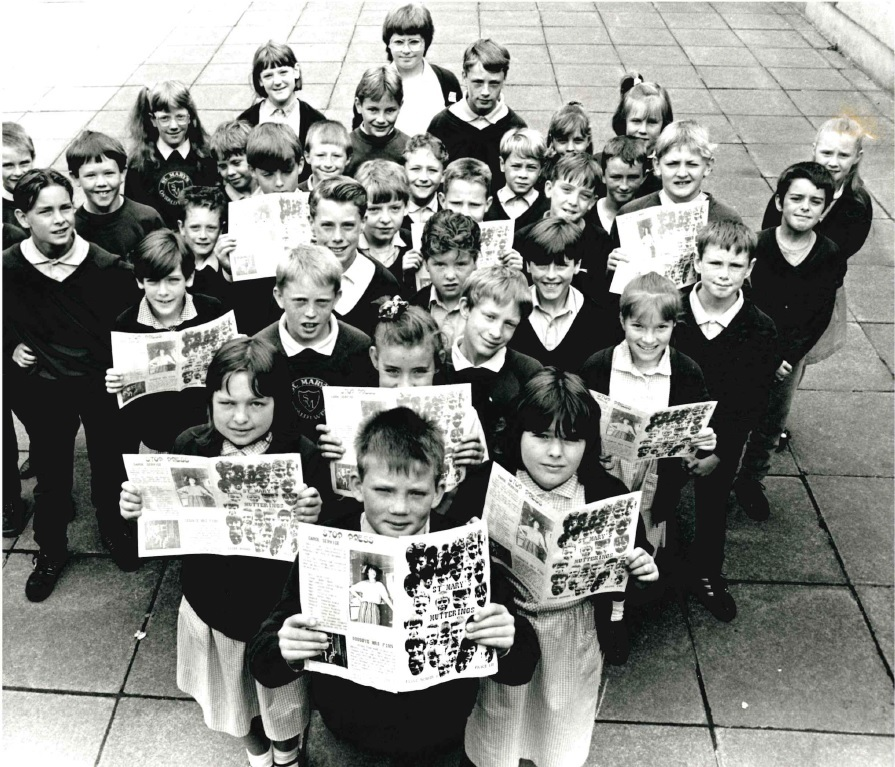 Pictured are proud pupils from St Mary's Primary School in Oswaldtwistle who are celebrating winning a national school newspaper competition.