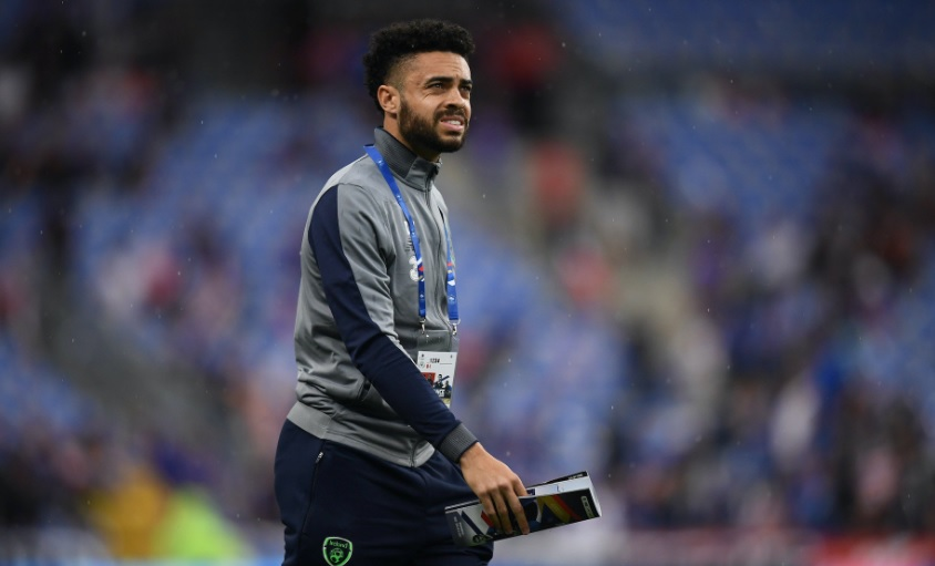 Derrick Williams made his Republic of Ireland debut in the defeat in France