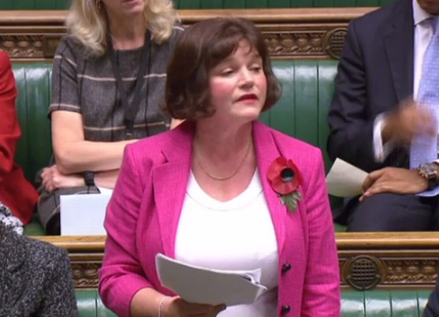 Julie Cooper in Parliament