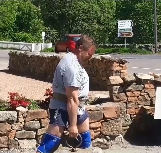 dinnie stone lift record smashed by strongman mark haydock