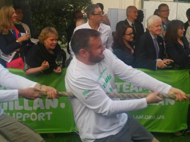 Andrew Stephenson MP in the 2018 Tug of War.