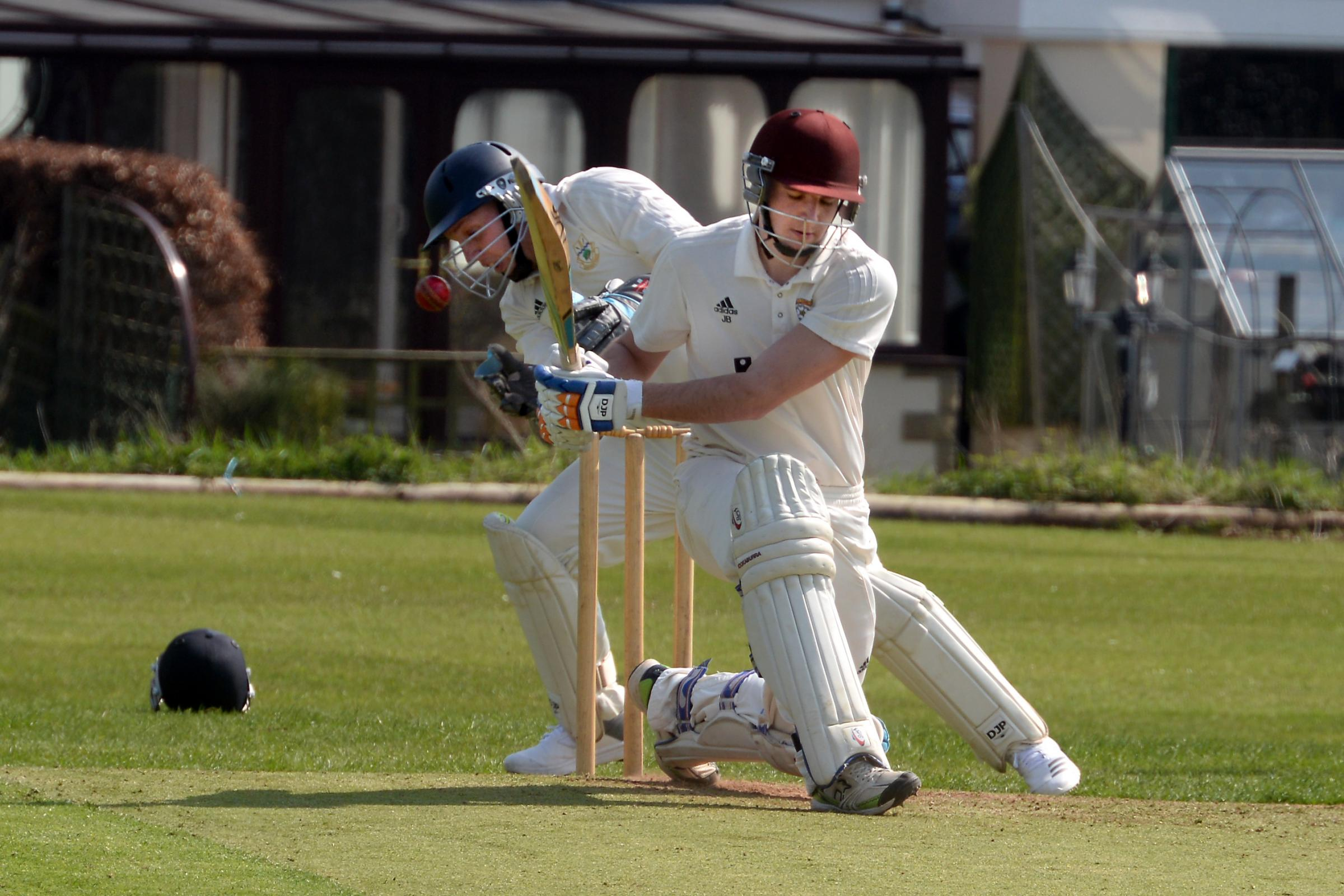 Barnoldswick's captain Johnny Beech batting