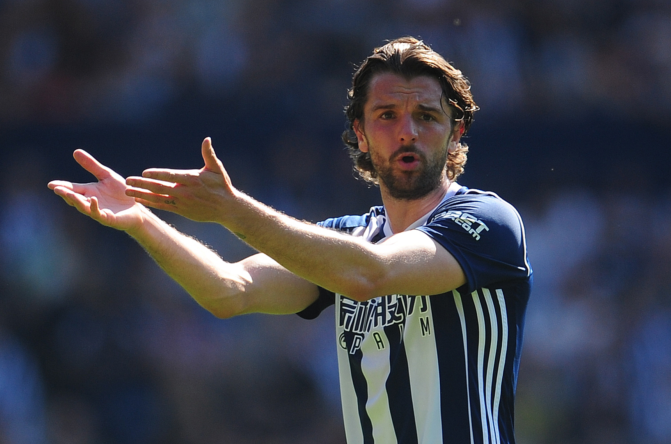 West Bromwich Albion's Jay Rodriguez..Photographer Ashley Crowden/CameraSport..The Premier League - West Bromwich Albion v Tottenham Hotspur - Saturday 5th May 2018 - The Hawthorns - West Bromwich..World Copyright © 2018 CameraSport. All r