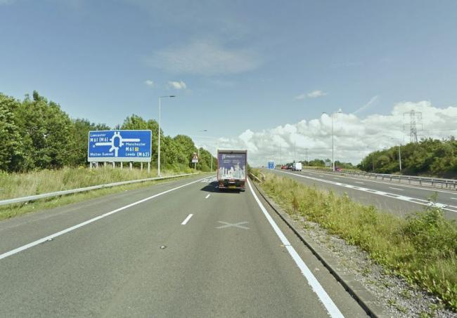 M65 closed in both directions near Darwen