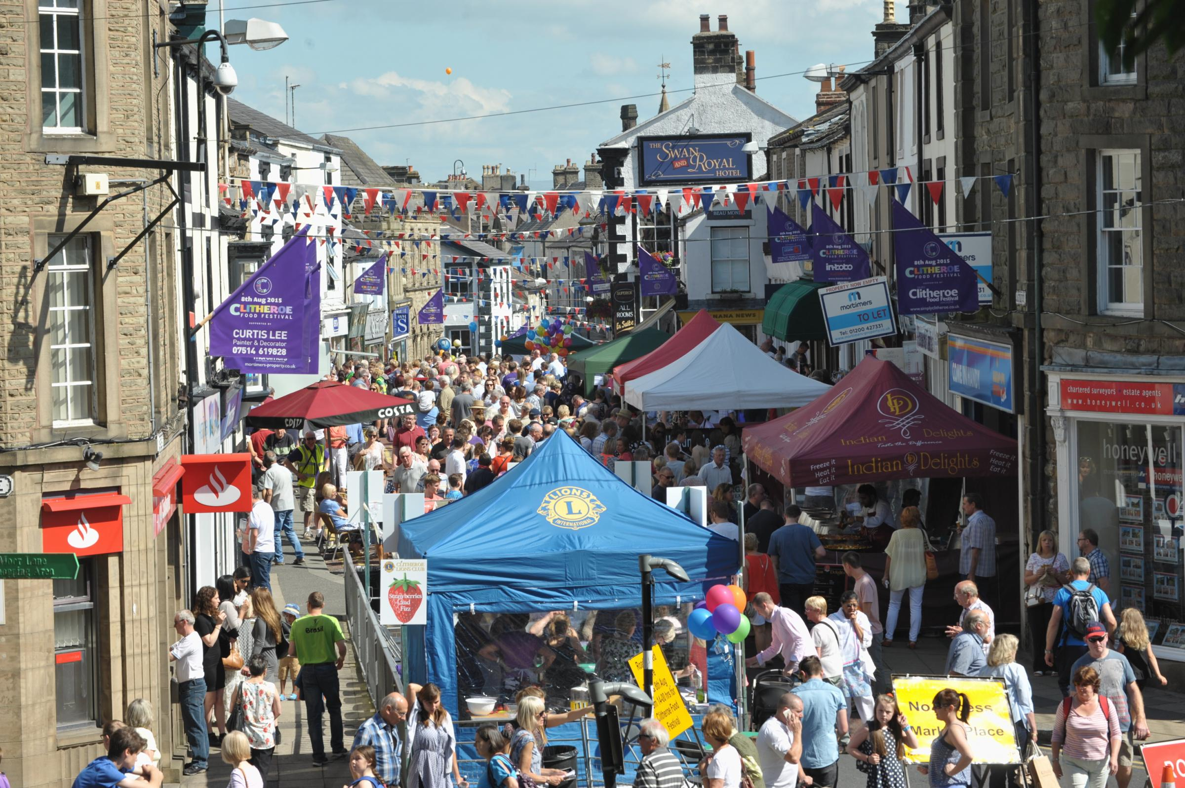 Clitheroe Food Festival in 2015