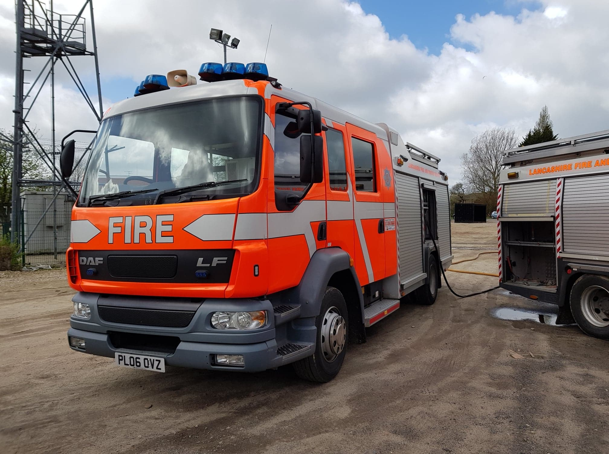 A Lancashire Fire and Rescue Service fire engine
