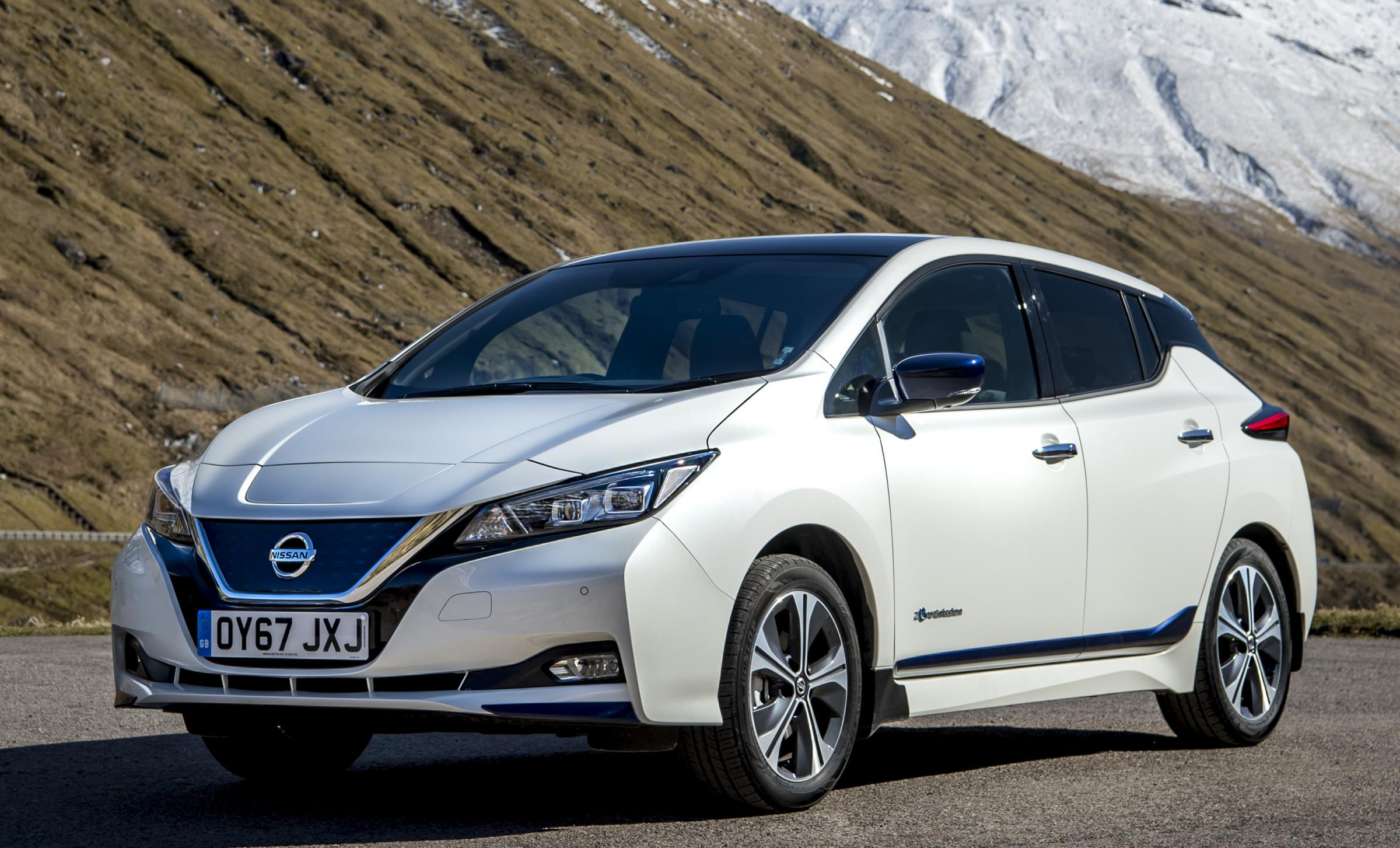The new Nissan LEAF. The model is the world's best-selling electric vehicle